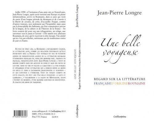 littérature roumaine,littérature française d'origine roumaine,jean-pierre longre,calliopées