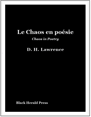 D.H. Lawrence, Black Herald Press, Blandine Longre, Harry Crosby, Black Sun Press